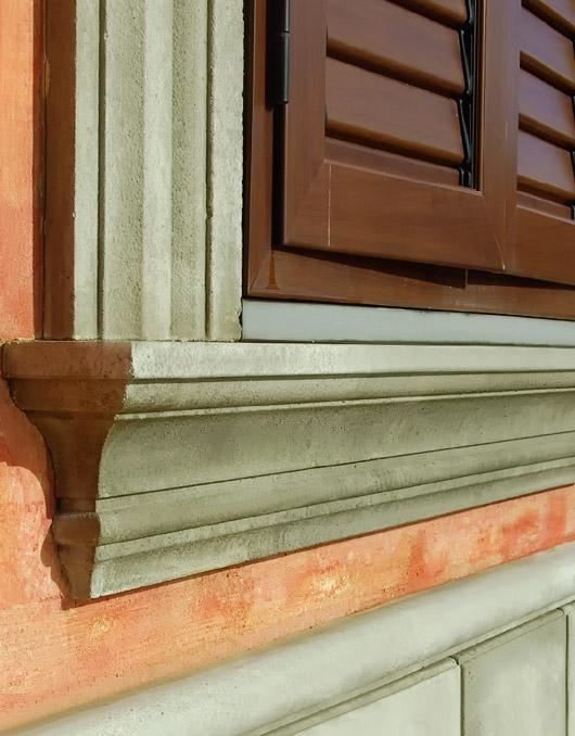 Davanzale 21b per finestra in cemento - Soglie per finestre ...