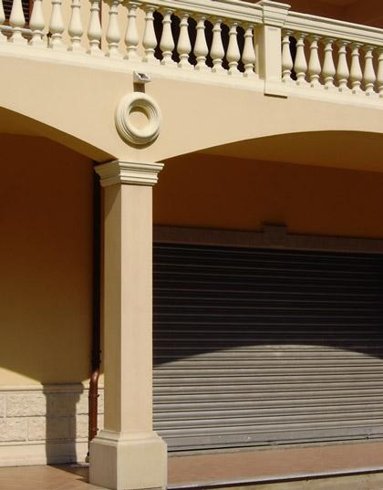 Base e capitello per pilastri e colonne