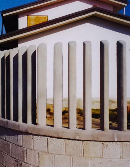 Paletti per recinzioni in cemento