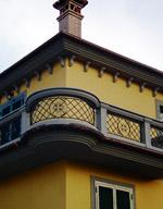 Ringhiere ferro e cemento per balcone