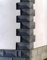Zoccolature in cemento per decorazioni facciate esterne