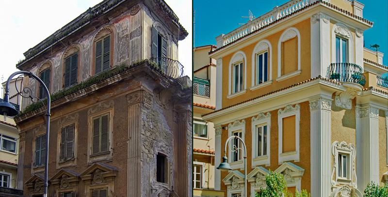 Ristrutturazione edilizia rifacimento facciata - Decori per finestre esterne ...